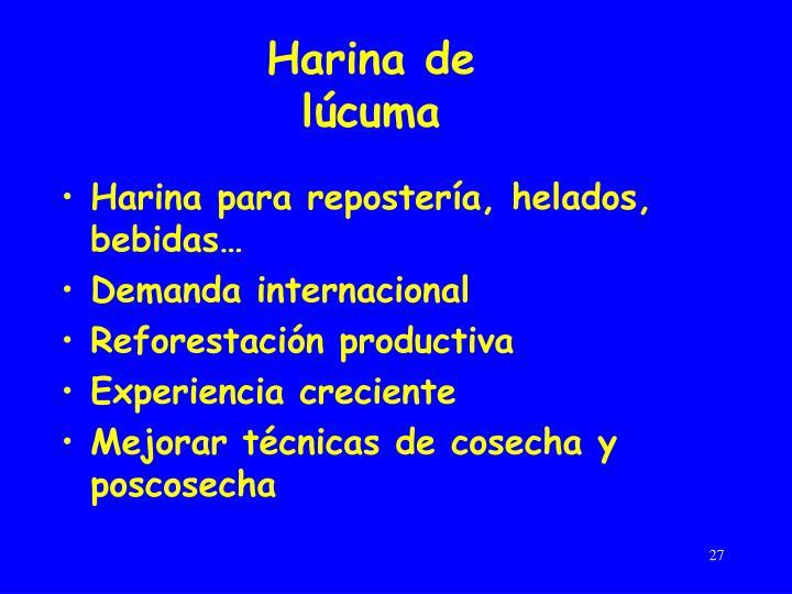 Harina de lúcuma