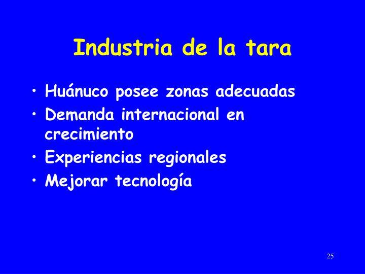 Industria de la tara