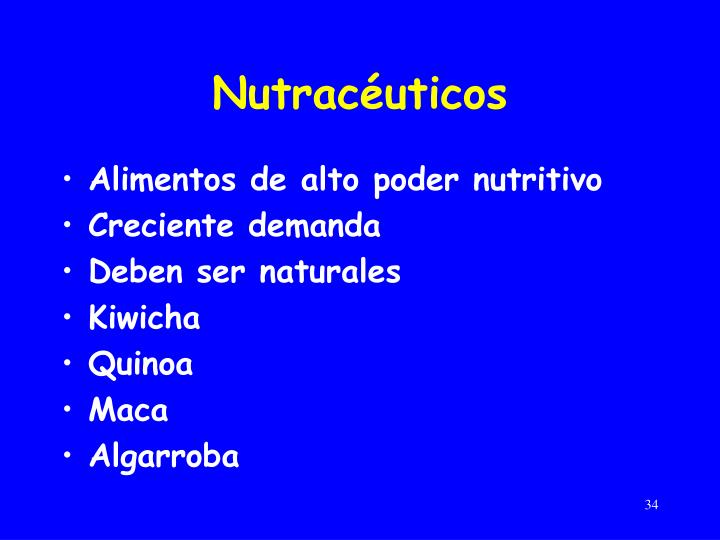 Nutracéuticos