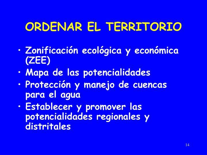 ORDENAR EL TERRITORIO