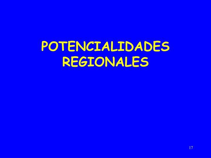 POTENCIALIDADES REGIONALES