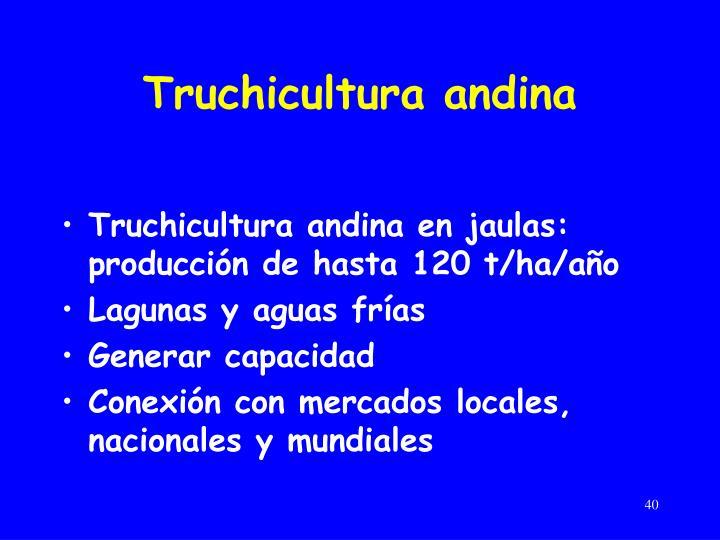 Truchicultura andina