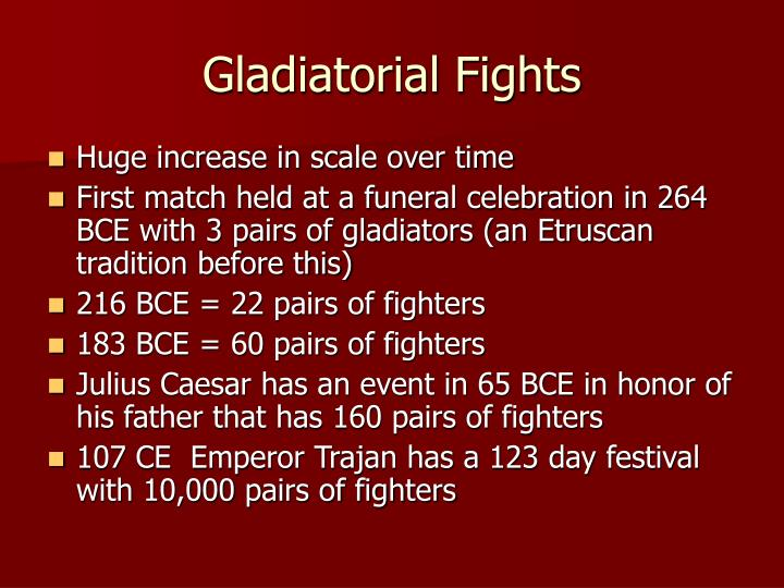 Gladiatorial Fights