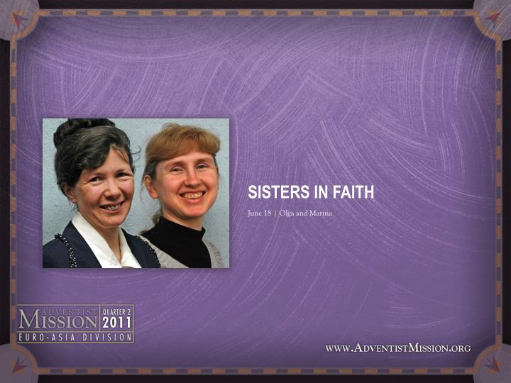SISTERS IN FAITH