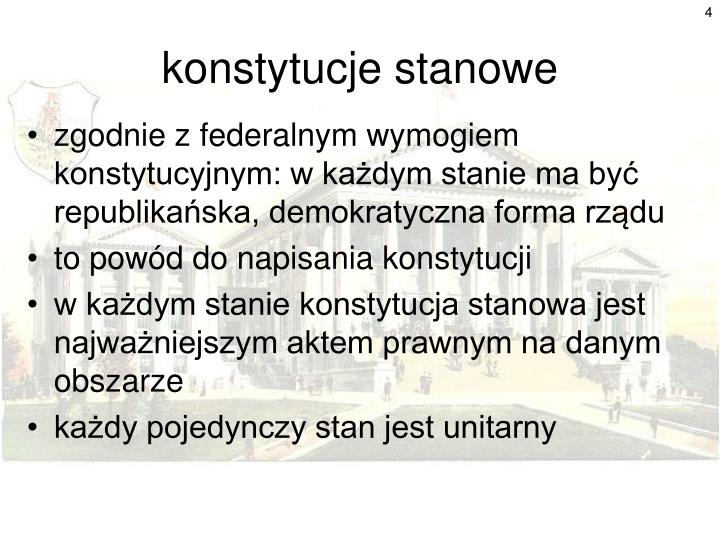 konstytucje stanowe