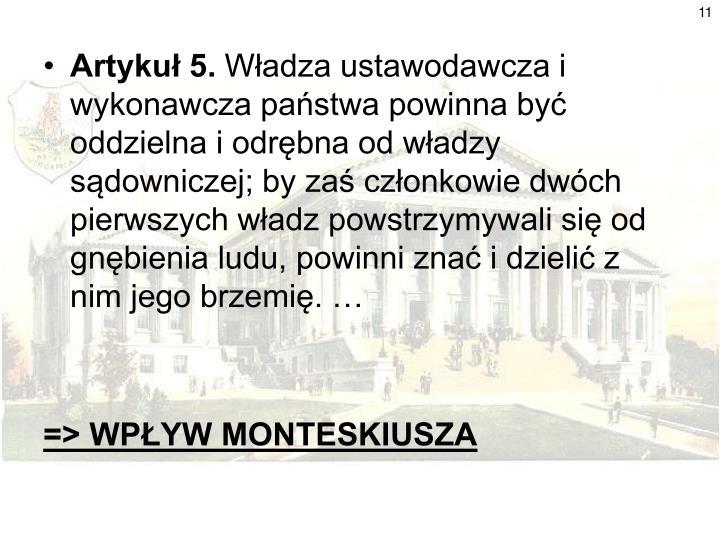 Artykuł 5.