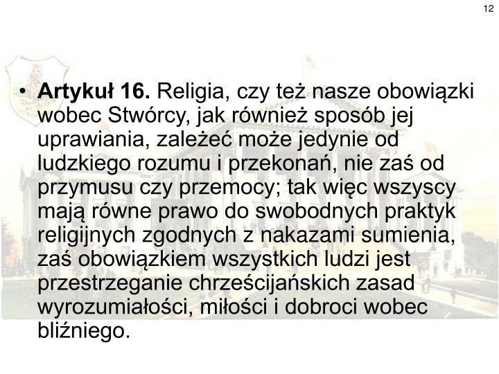 Artykuł 16.