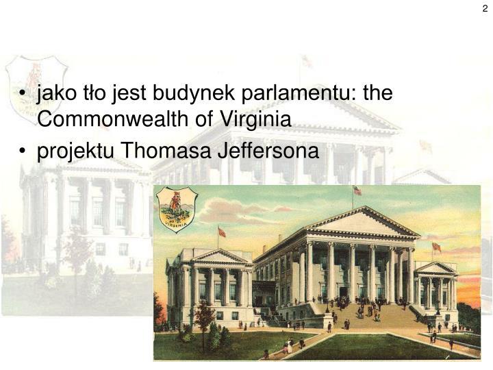 jako tło jest budynek parlamentu: the Commonwealth of Virginia