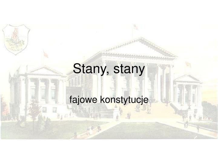 Stany stany