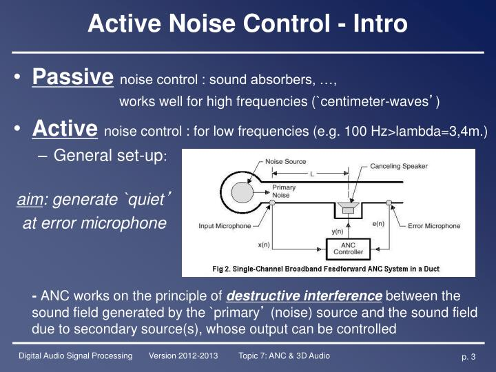 Active Noise Control - Intro