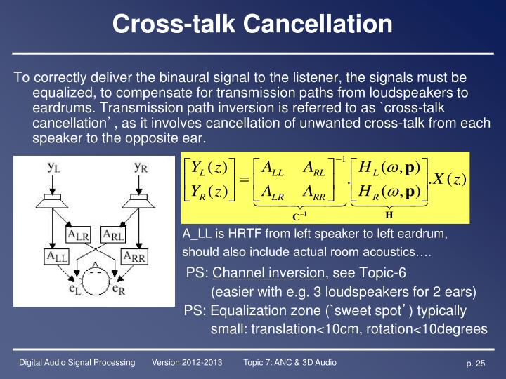 Cross-talk Cancellation