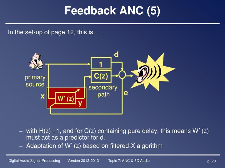 Feedback ANC (5)