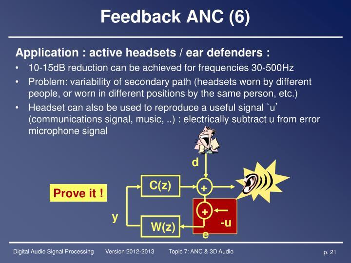 Feedback ANC (6)