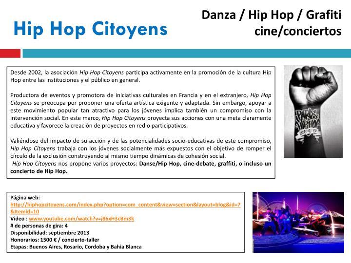 Danza / Hip Hop / Grafiti  cine/conciertos