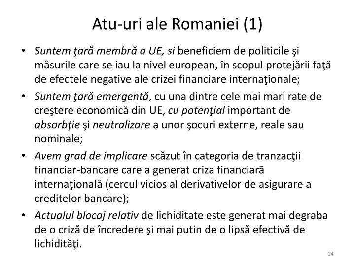 Atu-uri ale Romaniei (1)