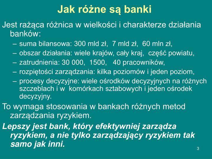 Jak różne są banki