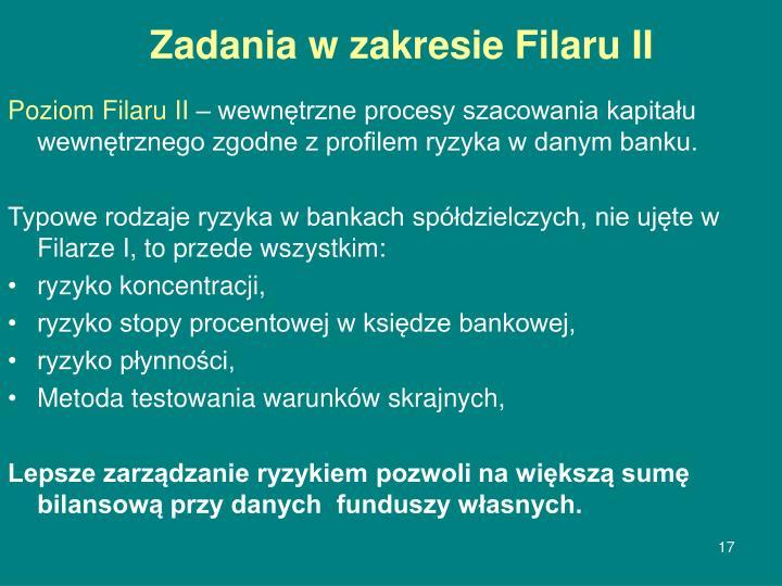 Zadania w zakresie Filaru II