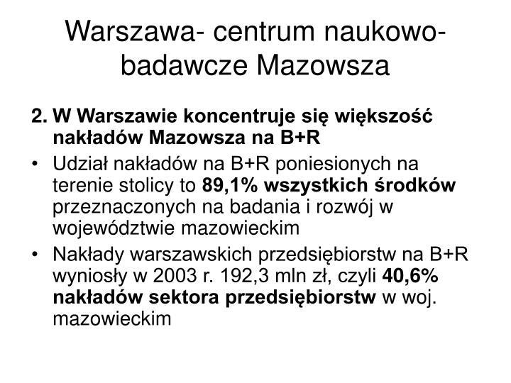 Warszawa- centrum naukowo-badawcze Mazowsza