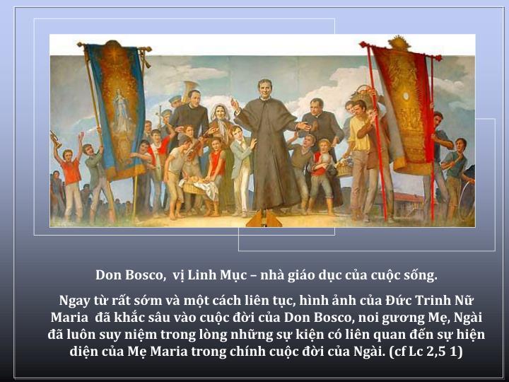 Don Bosco,  v Linh Mc  nh gio dc ca cuc sng.