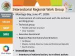 intersectorial regional work group