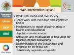 main intervention areas1