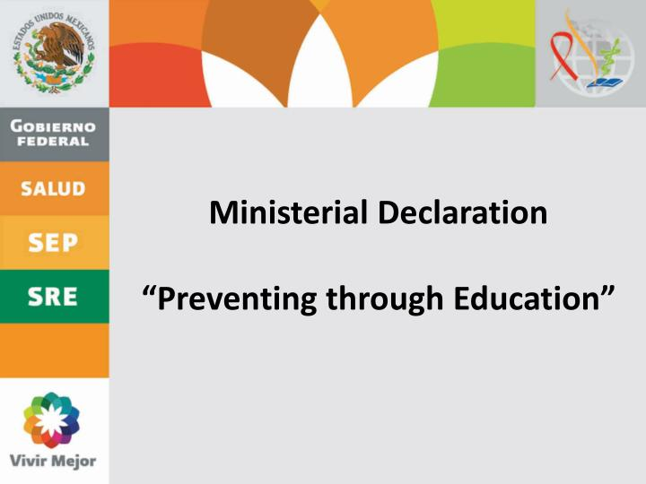 Ministerial Declaration