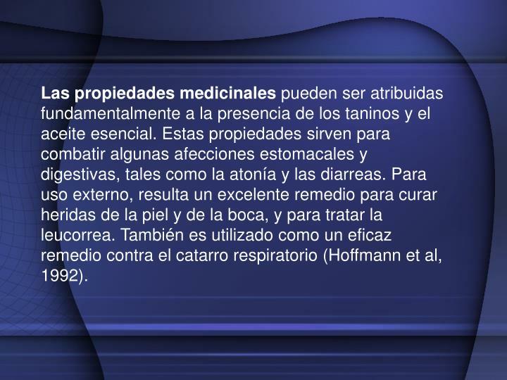 Las propiedades medicinales