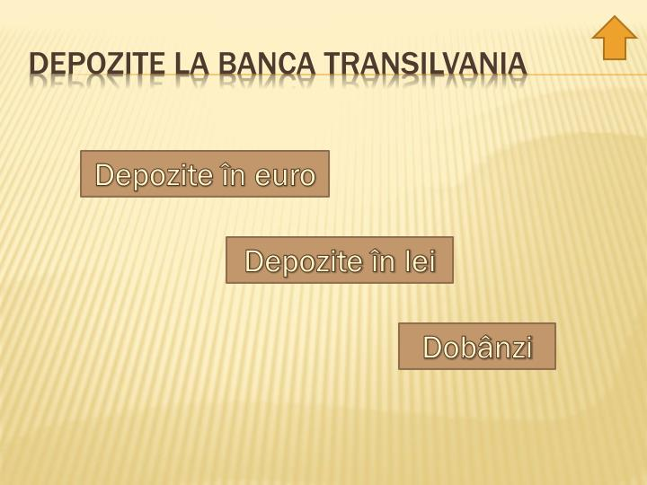 Depozite la banca Transilvania