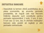 depozitele bancare