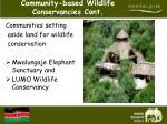 community based wildlife conservancies cont