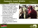 community based wildlife conservancies