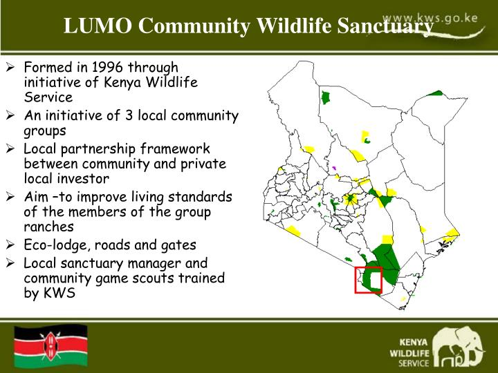 Formed in 1996 through initiative of Kenya Wildlife Service