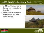 lumo wildlife sanctuary cont