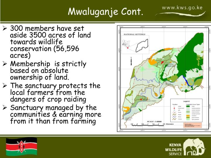 300 members have set aside 3500 acres of land towards wildlife conservation (56,596 acres)