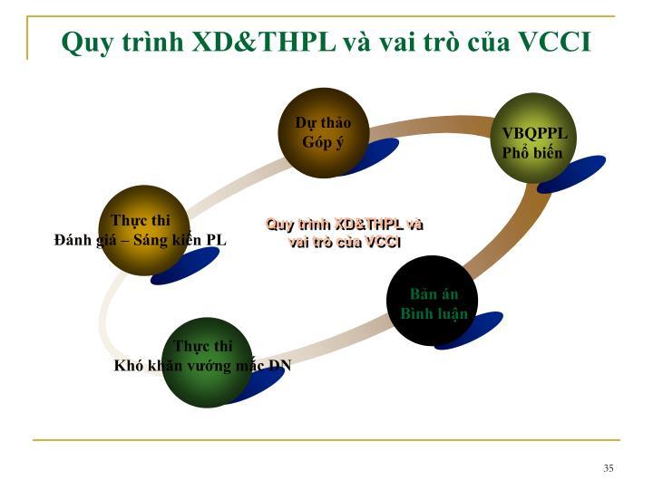 Quy trình XD&THPL và vai trò của VCCI