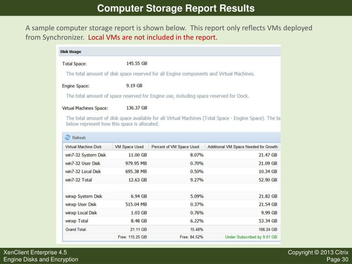Computer Storage Report Results
