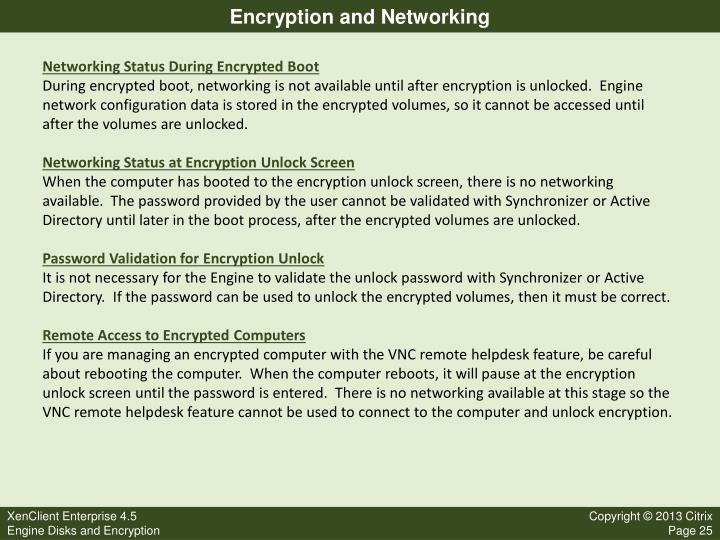 Encryption and Networking