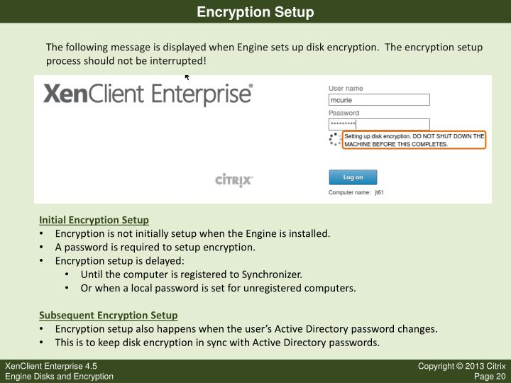 Encryption Setup