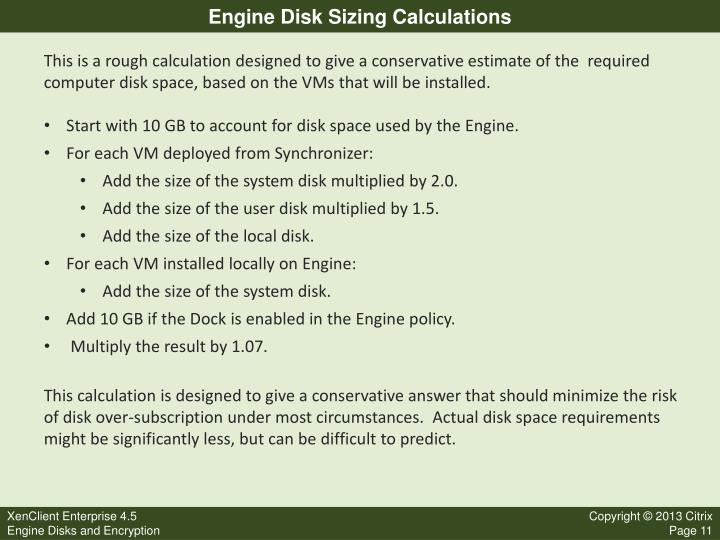 Engine Disk Sizing Calculations