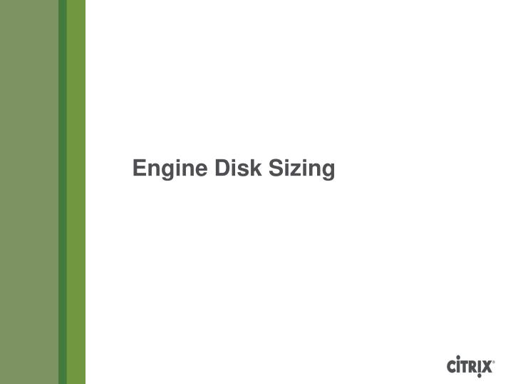 Engine Disk Sizing