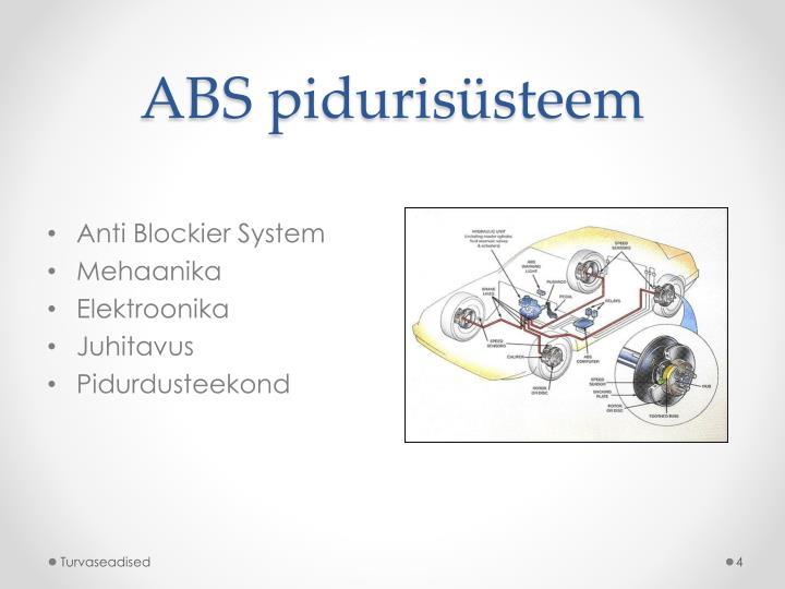 ABS pidurisüsteem