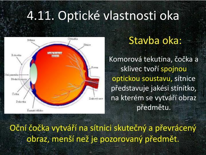 4.11. Optické vlastnosti oka