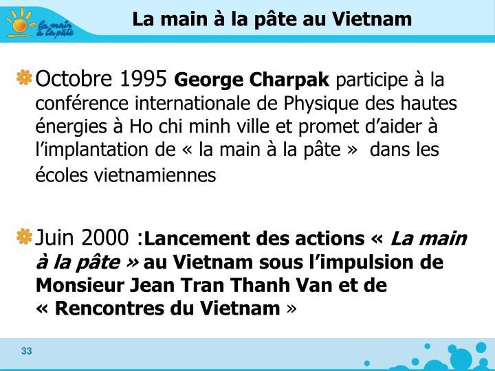 La main à la pâte au Vietnam