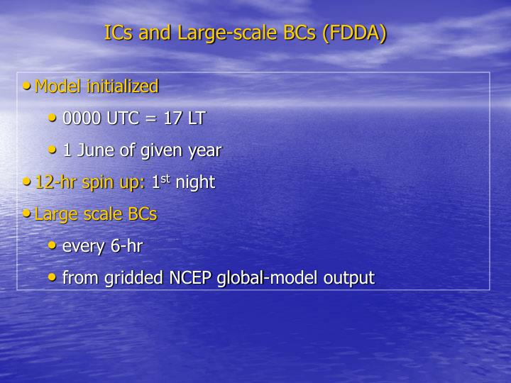 ICs and Large-scale BCs (FDDA)
