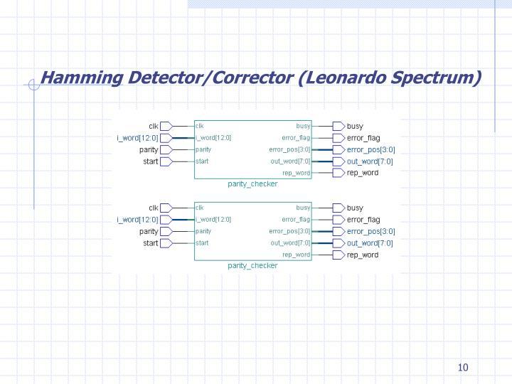 Hamming Detector/Corrector (Leonardo Spectrum)