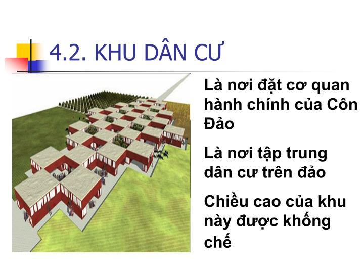 4.2. KHU DÂN CƯ