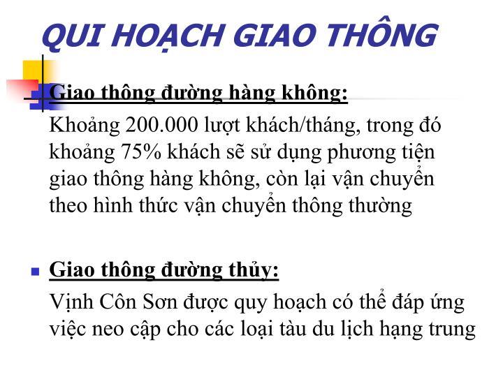 QUI HOẠCH GIAO THÔNG