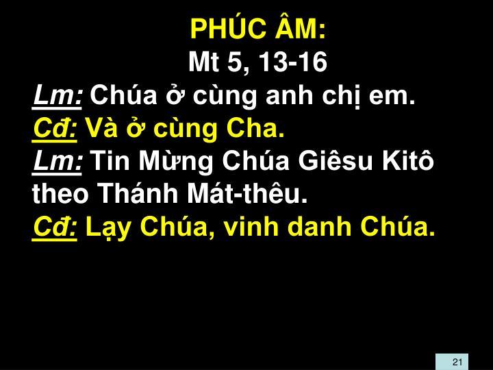 PHC M:
