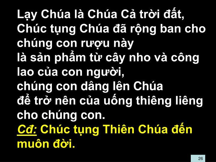 Ly Cha l Cha C tri t,