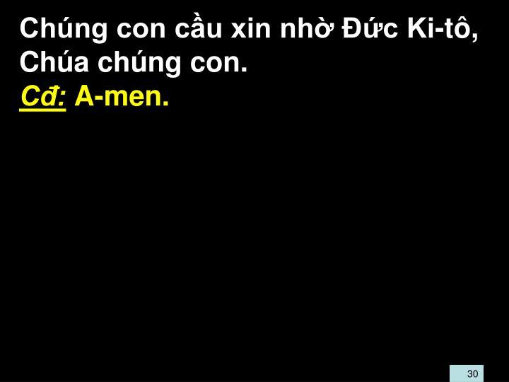 Chng con cu xin nh c Ki-t, Cha chng con.